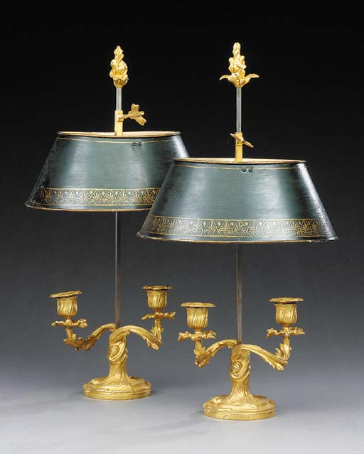 A pair of French gilt bronze b