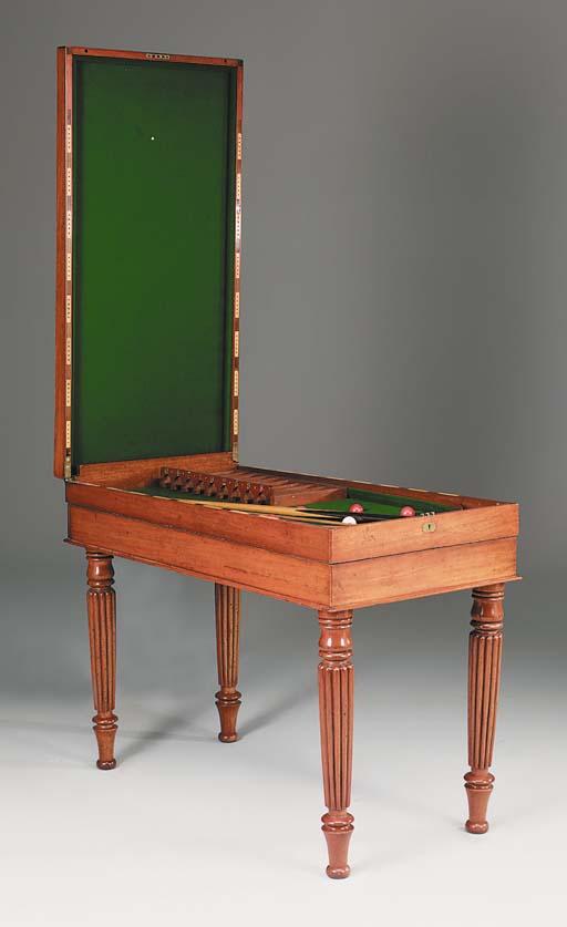 A Victorian mahogany bagatelle