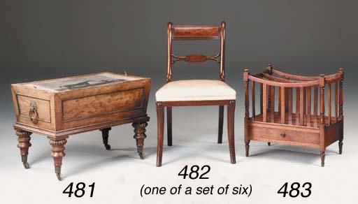 A mahogany three-division Cant