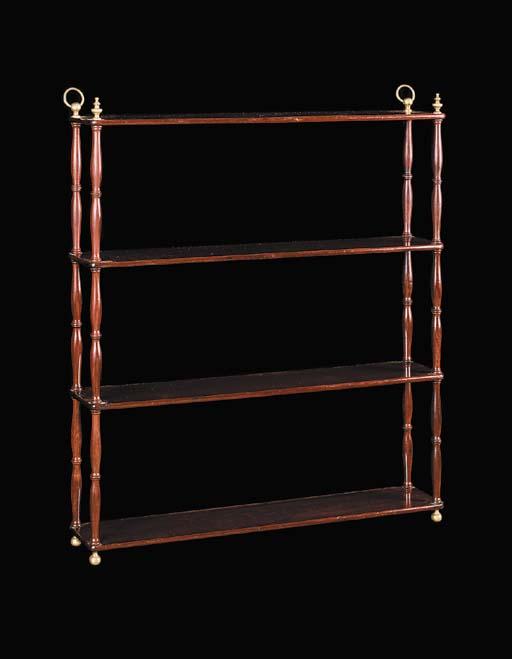 A set of Regency mahogany four