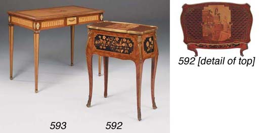 A Swedish marquetry centre or