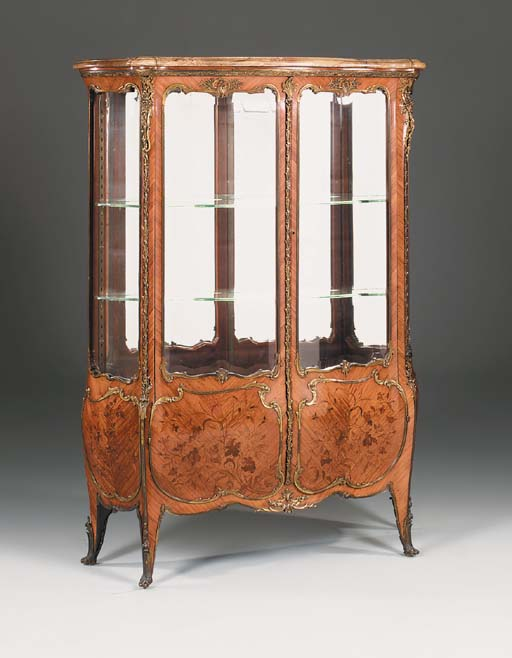 A French kingwood, marquetry a