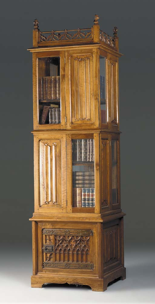 A French Gothic revival walnut