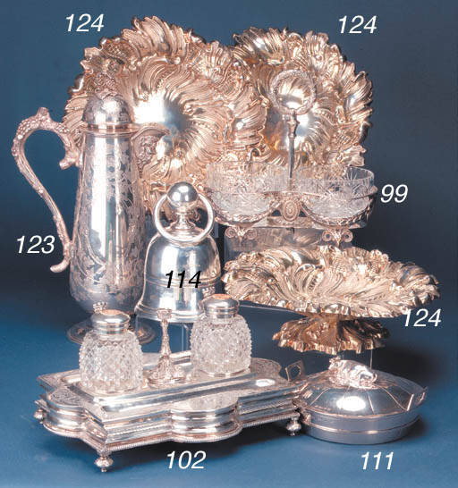 A VICTORIAN DOUBLE SWEETMEAT S