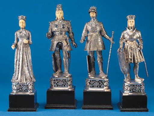FOUR GERMAN FIGURAL ORNAMENTS