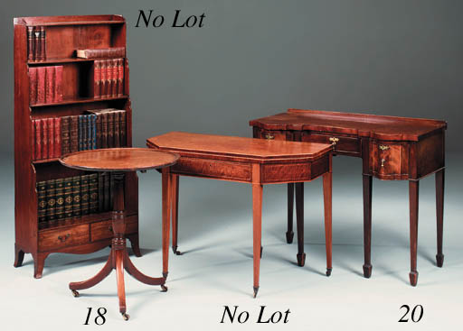 A mahogany tripod table, 19th