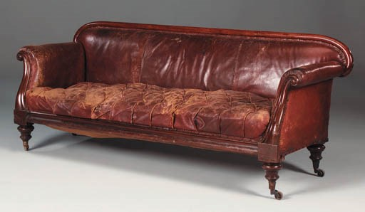 A Victorian mahogany and leath