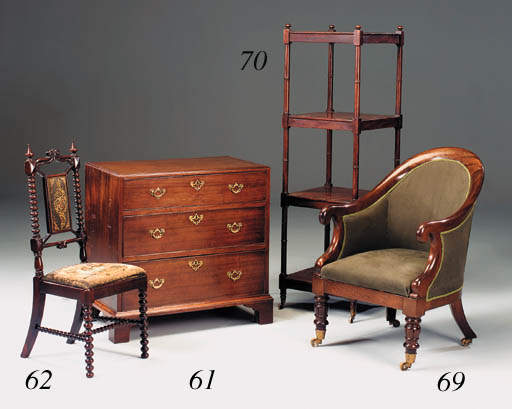 A small George III mahogany ch