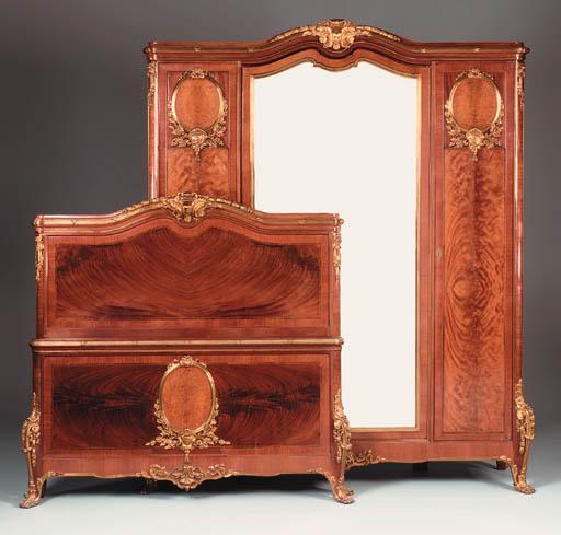 A mahogany and gilt-metal mounted wardrobe, 20th century