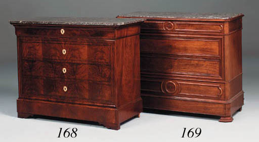 A Napoleon III walnut commode