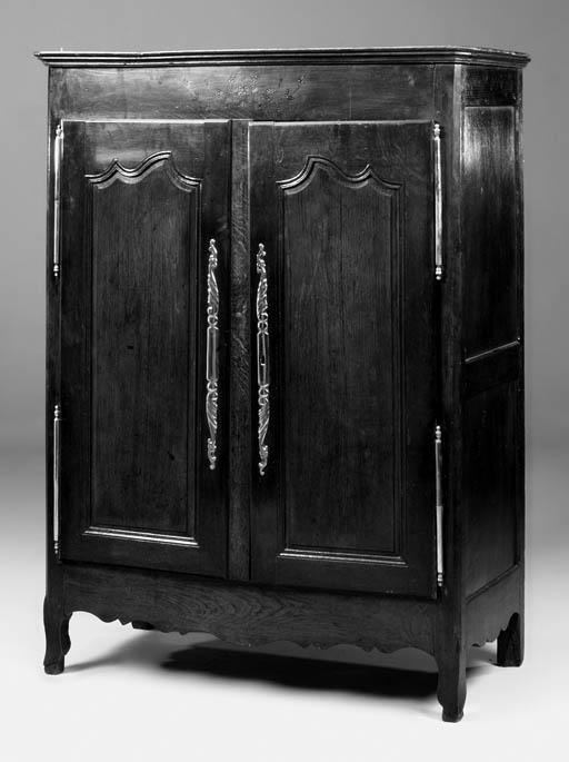 A French oak armoire, 19th cen