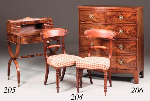 A mahogany bureau writing desk