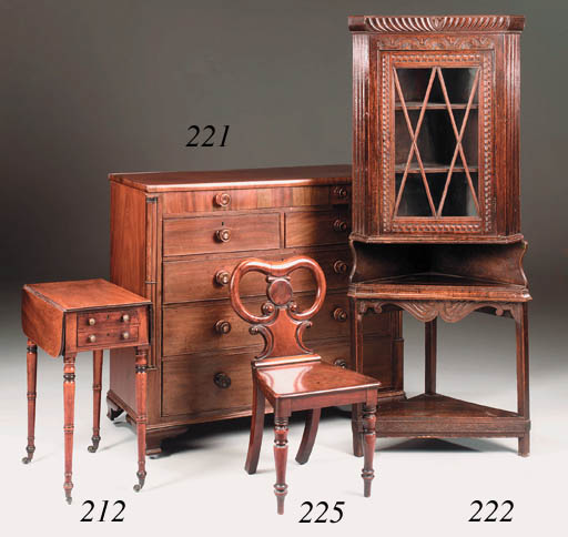 A small George III mahogany dr