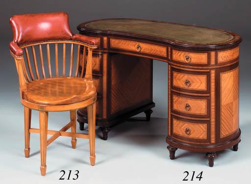 A beech captains chair, 20th c