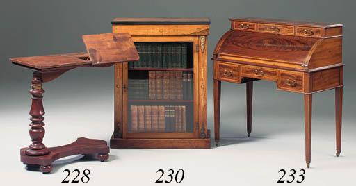 An Edwardian mahogany and sati