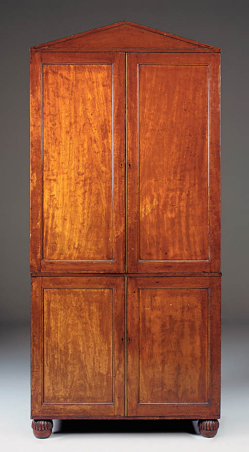 A mahogany hanging cupboard, p