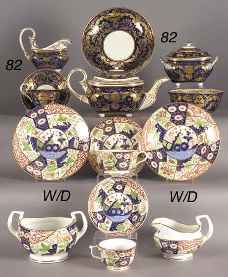 A Derby blue-ground part tea s