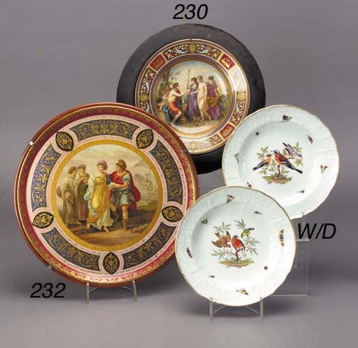 A Vienna style circular tray