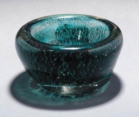 AN ANDRÉ THURET GLASS VASE