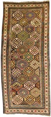 An antique Kazak long rug, Sou