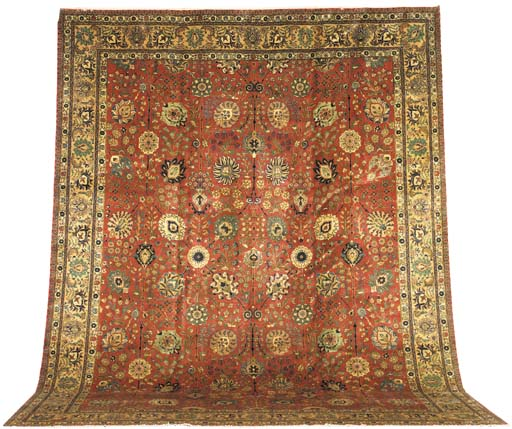 A fine Tabriz carpet of Shah-A