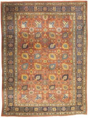 A fine Tabriz carpet of Shah A