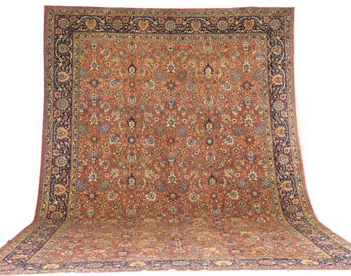 A fine massive Tabriz carpet,