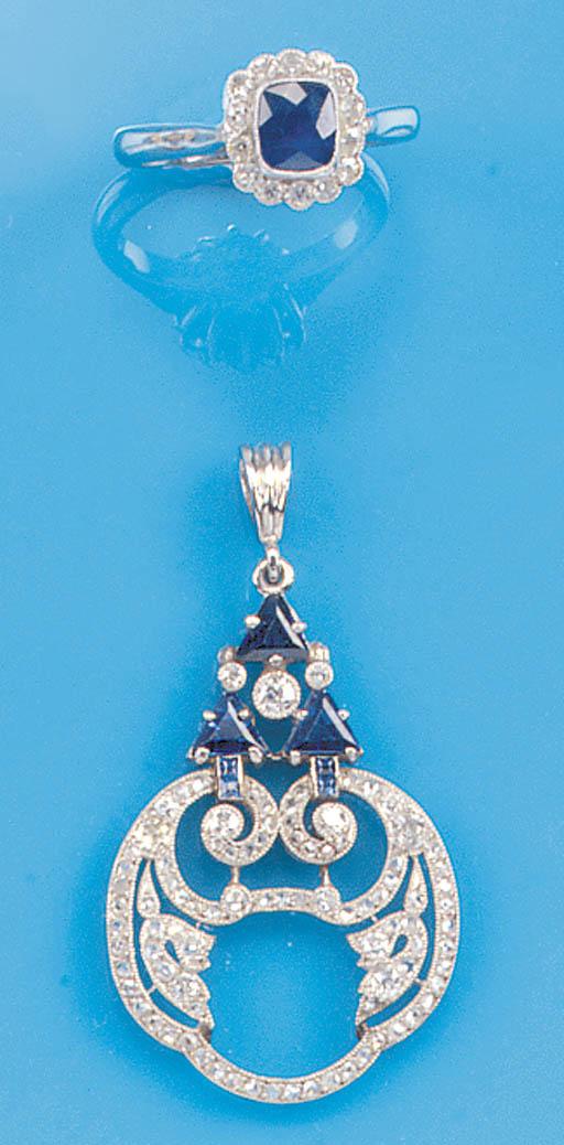 An Edwardian, diamond and sapp