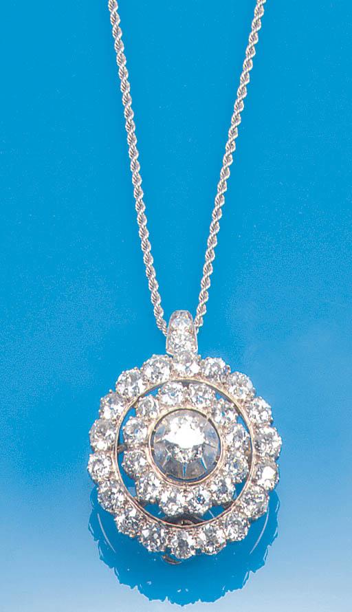 A 19th Century diamond circula