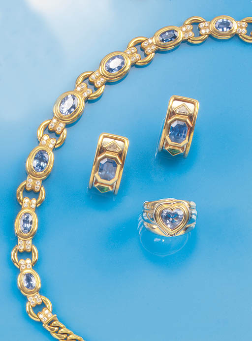 A Bulgari sapphire and diamond