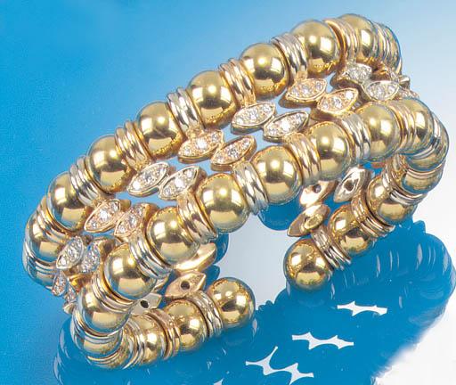 A diamond sprung bangle