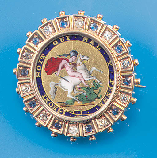 An early 20th Century gold, di