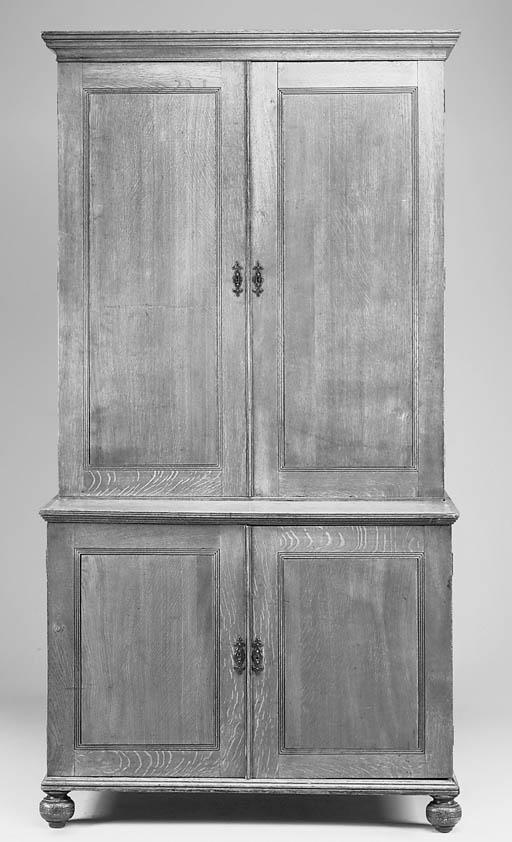 An oak Estate cabinet, English