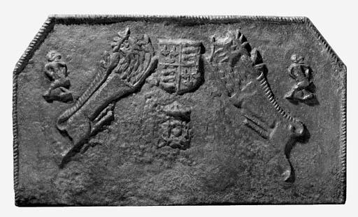 An Elizabethan cast iron fireb