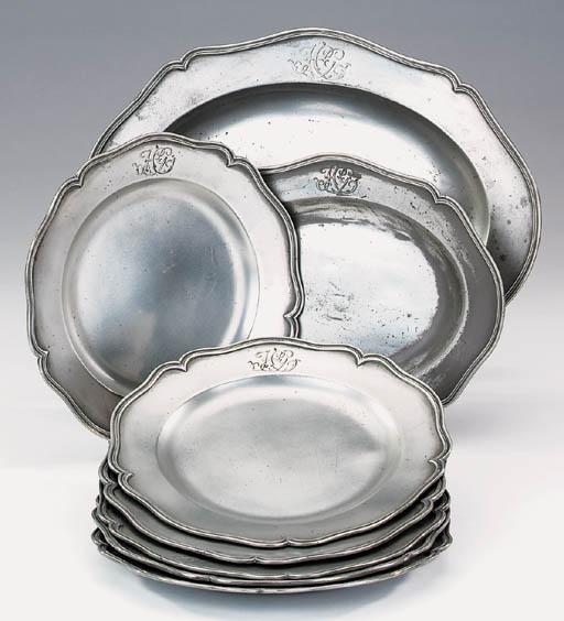 A set of six George III wavy e