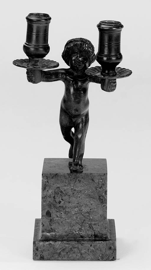 A Flemish bronze twin light ca