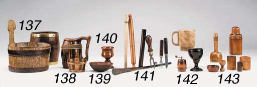 A collection of treen utensils