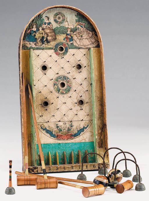 A Victorian bagatelle board, l