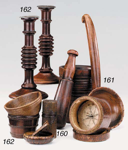 A lignum mortar, late 18th or