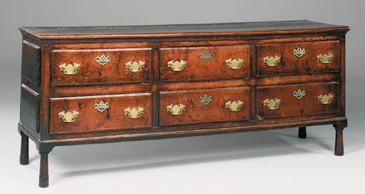 An oak dresser, probably Welsh