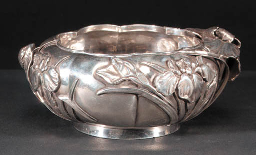 A Japanese silver bowl 19th Ce