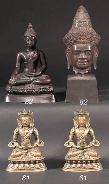 A Thai bronze seated Buddha 20