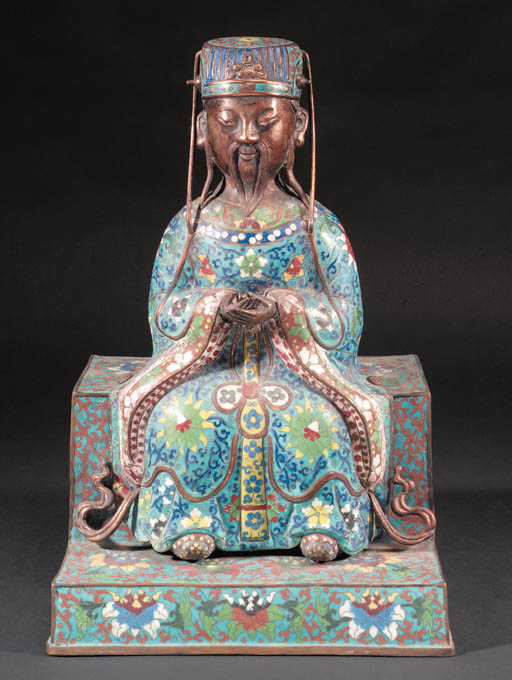 A Chinese cloisonne model of a