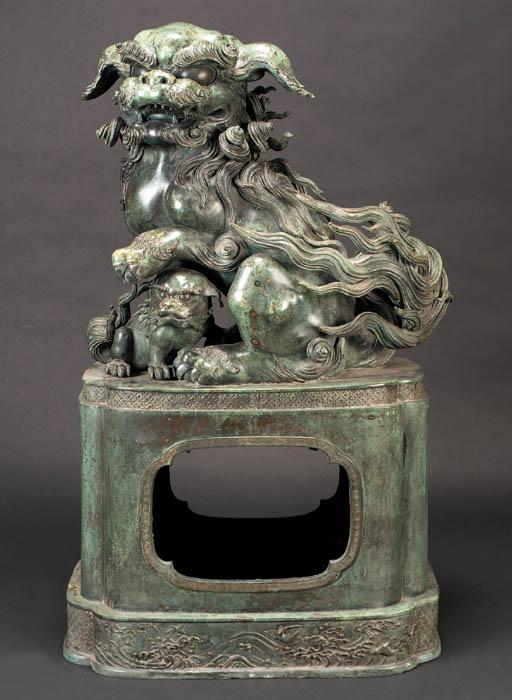 A massive Japanese bronze Kara
