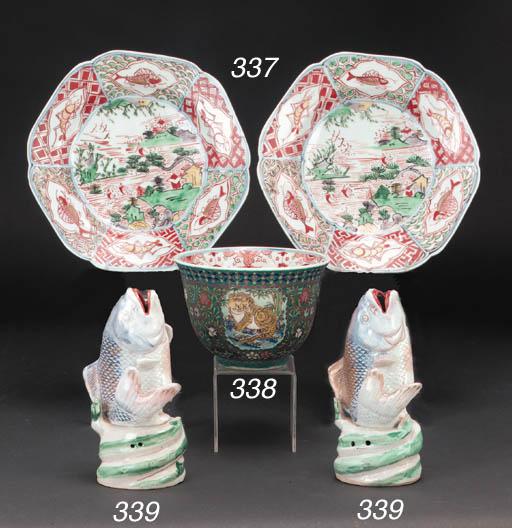 A Japanese cloisonne on porcel