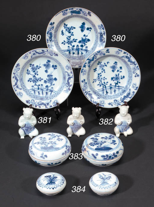 A set of twelve Chinese blue a