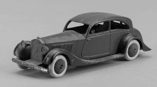 A Dinky pre-war dark blue and