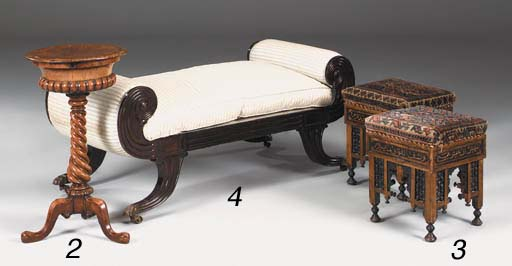 A pair of near Eastern upholst