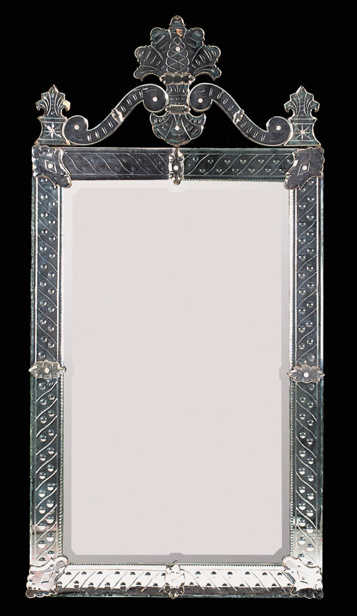 A Venetian mirror, early 20th