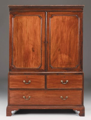A George III mahogany and simu